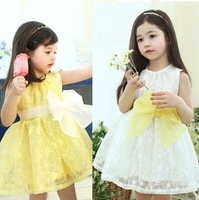 wholesale 5pcs children clothing girl's lace Sleeveless skirt free shipping