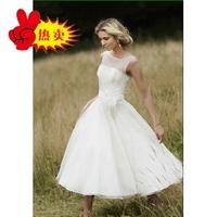 Design short wedding   bride bridesmaid dress one-piece dress customize