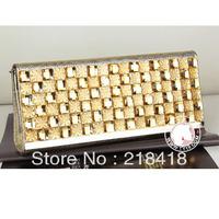 2013 new arrival Diamond rhinestone clutch crystal hand bag evening party handbag high grade hot selling free shipping