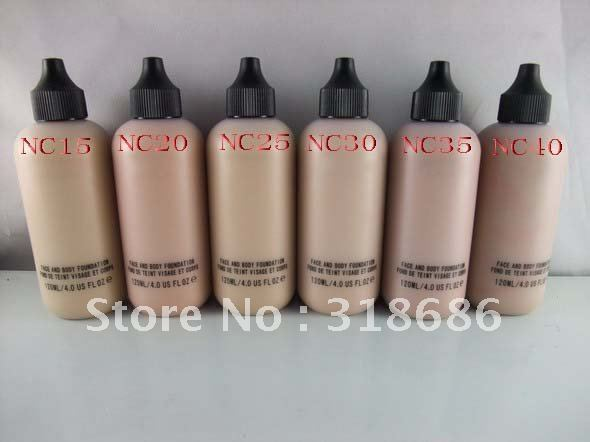 Free shipping 6pcs/lot makeup liquid Foundation face and body foundation fond de teint visage et corps 120ml(China (Mainland))