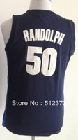 Free Shipping!!! #50 Zach Randolph Youth Kids navy blue jersey, Embroidered Logo ( all name number stitched!!)