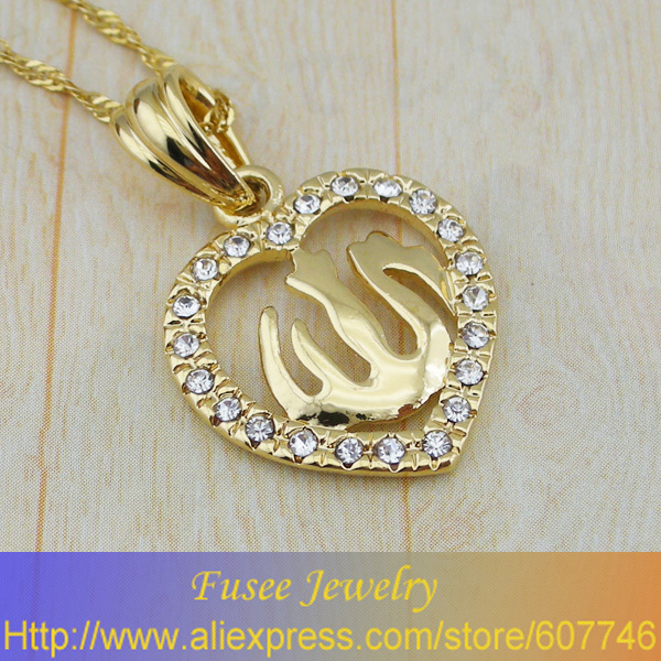 GJH60010597 Classic 18K Gold Plated Islamic pendant 2pcs/lot(China (Mainland))