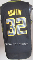 Free Shipping to all country!!#32 Blake Griffin Electricity Fashion  Jersey Embroidered Logo ( all name number stitched!!)
