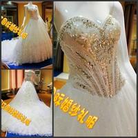 2012 bandage tube top wedding dress princess big train wedding dress xj764230