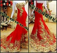 Ultimate luxury crystal formal dress formal dress toast the bride married formal dress evening dress xj61400