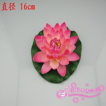 Company aquarium Medium Pink lotus artificial flowers water lily decoration