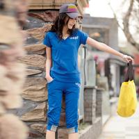 2013 women's summer fashion short-sleeve casual sports set