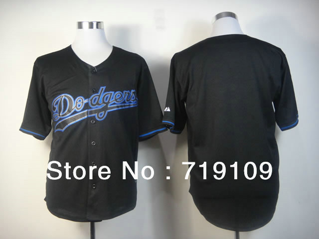 Free Shipping dodgers Blank Men&#39;s Baseball Jersey,Embroidery and Sewing Logos,size M--3XL,Accpet Mix Order(China (Mainland))