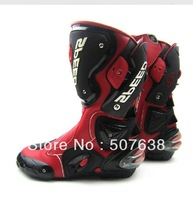New arrival 2013 super-fibre leather motorcycle off-road racing boots long design automobile race shoes motorcycle protection