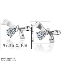 free shipping 18 K gold plated earrings Genuine Austrian crystals earrings,Nickle free antiallergic factory prices ktj jw E002