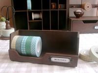 Fancy vintage wood tape holders W17.2xD6.5xH6.5cm