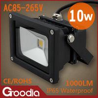 10W led flood light IP65 AC85-265V Cold white/warm white Black shell wall light outdoor lighting led spotlight outdoor