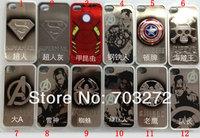 10pcs/lot wholesales New Hero Batman Cover Superman Case for iphone 4 4s Plating Aluminum Shell