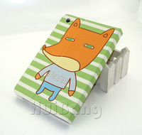 New Super Cute Forest Series Cartoon Fox Leather Cover Case For Apple New iPad Mini + Card Slot +Stand,6 Styles P377