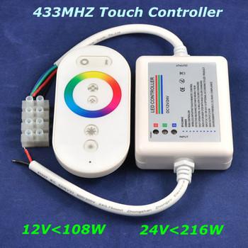 10pcs/lot, DHL/EMS, DC12V-108W,24V-216W,433MHz touch wireless RF rgb led controller for rgb led strip bar light,Retail