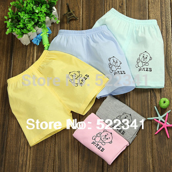 2014 hot sale! children short pants, summer cotton shorts,kids fashion pants, boys color cartoon bear pants
