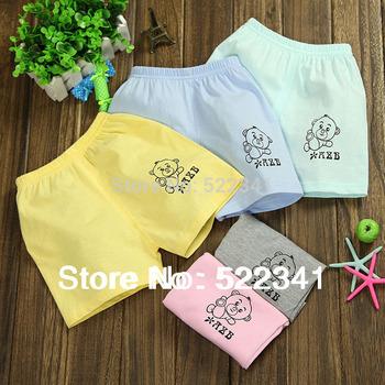 2015 hot sale! children short pants, summer cotton shorts,kids fashion pants, boys color cartoon bear pants