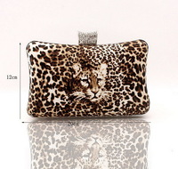 2013 new  Ladies'noble Sexy Leopard Clutch bag, diamond bottom party dress Evening Bag with Chain, free shipping