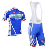 2013 New italia castelli  Outdoor Sport wear Cycling Wear /Bike Bicycle Jersey With Bib Shorts Suits Size :S~XXXL
