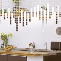 Acrylic crystal three-dimensional wall stickers mosaic mirror sofa wall stickers fashion 100 pcs