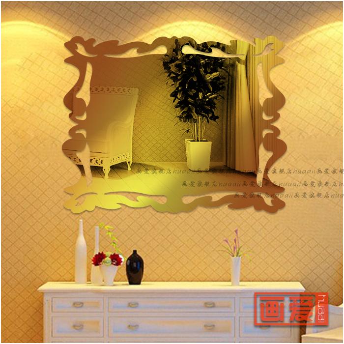 elegant-Mirror-acrylic-three-dimensional-wall-stickers-bathroom ...