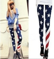 Sexy Slim Fashion Elasticity USA American Flag Print Leggings Pants CHARM Tights