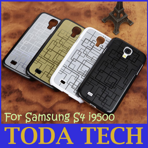 New Illusion Style Embossed Metal Shell Cell Phone Case for Samsung S4 i9500 Stainless Steel Cheap Promotion Free Shipping(China (Mainland))