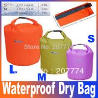 Terylene Canoe Kayak Rafting Camping Waterproof Dry Bag Outdoor Organize Swimming Climbing 20L40L70L Size L M S FreeShipping
