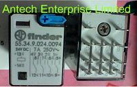 FINDER RELAY 55.34.9.024.0094 24VDC 7A 250V, new and original