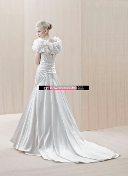 Royal princess 2012 2290 flower cape tube top fashion elegant royal wedding dress
