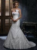 Brief wedding dress wedding dress wedding dress train wedding dress customize bow