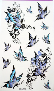 Hm256 butterfly tattoo stickers hot-selling Women waterproof(China (Mainland))