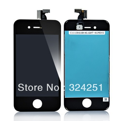 New Original For iPhone 4S LCD Touch Screen Digitizer Assembly without Home Button and Camera New Original-Black(China (Mainland))