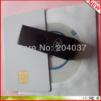 Newest Mini USB Contact Smart IC Card Reader ACR38U PocketMate 4MHZ Support ISO 7816 Class A  B  C / CAC PIV Cards Free Shipping