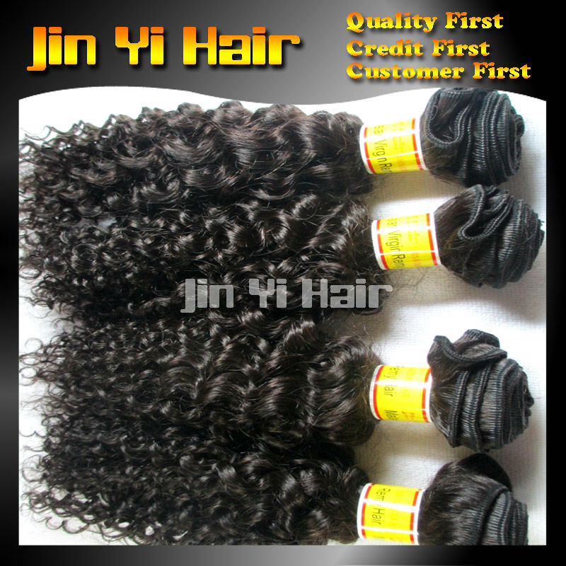 Guangzhou New Light Invogue Queen Virgin Malaysian Tight Kinky Curly Hair 4pcs Lot Natural Black 1b New Star Cheap Weave Online(China (Mainland))