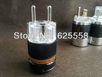 Gaofei E50TB Red Copper Rhodium Plated Hi-End Schuko EU AC Power plug Europ