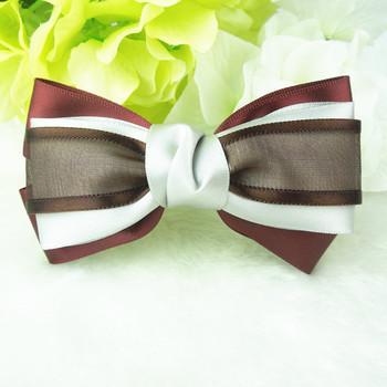 Trial Order DIY handmade Ribbon bow hair clip women girl Bownot hair clip Ribbon hair accessories 20pcs/lot