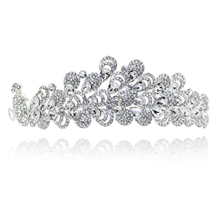 5000w colour bride married big hair accessory rhinestone wedding dress hair accessory(China (Mainland))