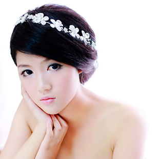 Colour bride white flower hair accessory accessories the wedding hair accessory hair accessory wedding dress rhinestone(China (Mainland))