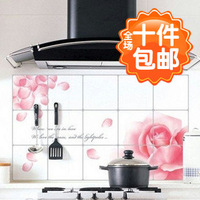 2890 quality aluminum foil oil pollution smoke tile kitchen cabinet decoration stickers