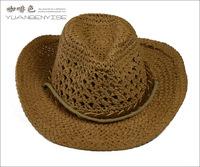 Summer handmade cowboy raffia hat British men's hat in Panama