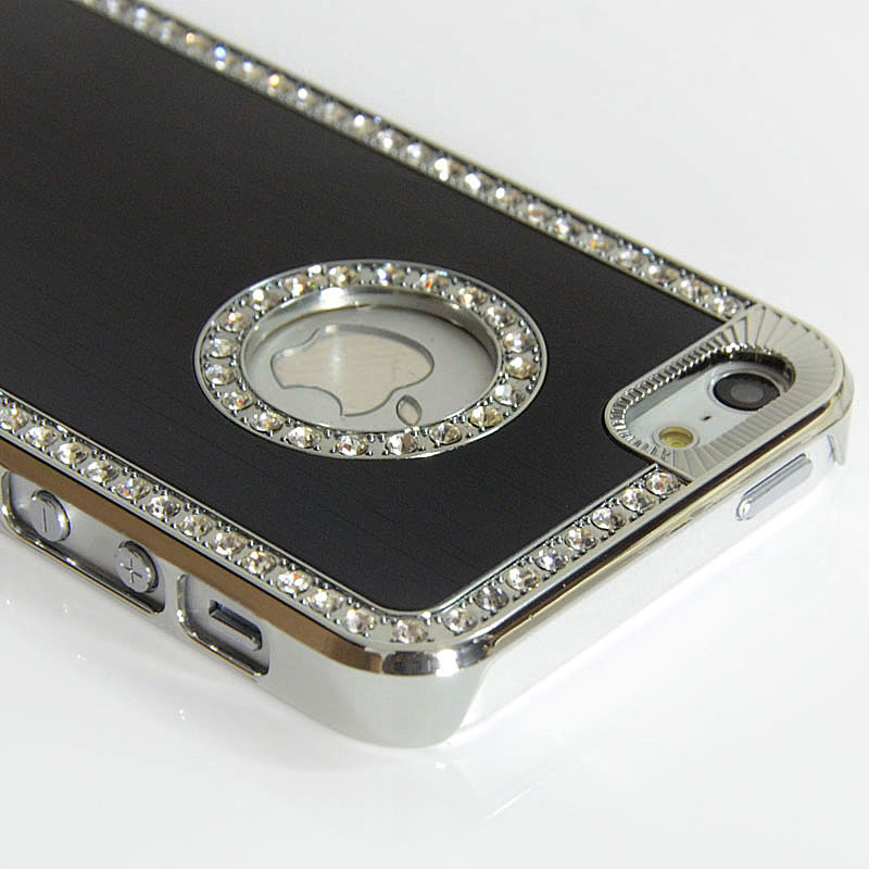 Luxury Bling Diamond Alloy metal case for iPhone 5,Brushed Aluminum case for iPhone5,10pcs/Lot(China (Mainland))