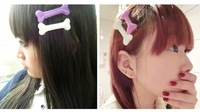ON Sale 2pcs Fashion Japanese Harajuku Hairclips MINI Bone Hair Clip Hairpin Rockabilly Zombie Punk Horror Gothic FREE SHIP