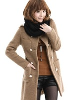 Free shipping 2013 women's new coat medium style wool cloth coat female woolen cloth coat b135 of