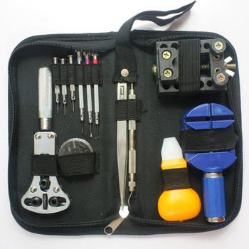 Hot sales Practical table tool watch repair tool kit clock kit strap down the bottom opener herramientas watch tools