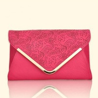 2013 women's Envelope bags, long design day clutch, Emboss women's handbag, female Evening bag,Free shipping