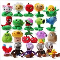 Free shipping 13-20cm 20pcs/set stuffed plants vs zombies plush toy doll for birthday gift,Plants vs Zombies plush toys