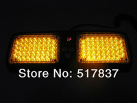 86 LED Emergency Strobe Visor Amber Yellow light Factory Direct  amber