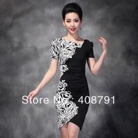 Free shipping 2013 spring short-sleeve dress,women's irregular dresses,plus size dress short-sleeve jumpsuit