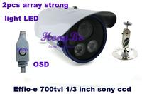 "New Promation 700tvl Effio-e 1/3"" SONY CCD  OSD MENU 2 Array LED Waterproof CCTV Camera  HU-UR74331"